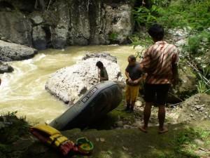 start awal arung jeram bersama Indo Sella Travel
