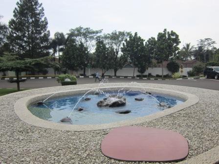Salah satu kolam yang menggunakan air limbah pocari sweet yang sudah dimineralisasi