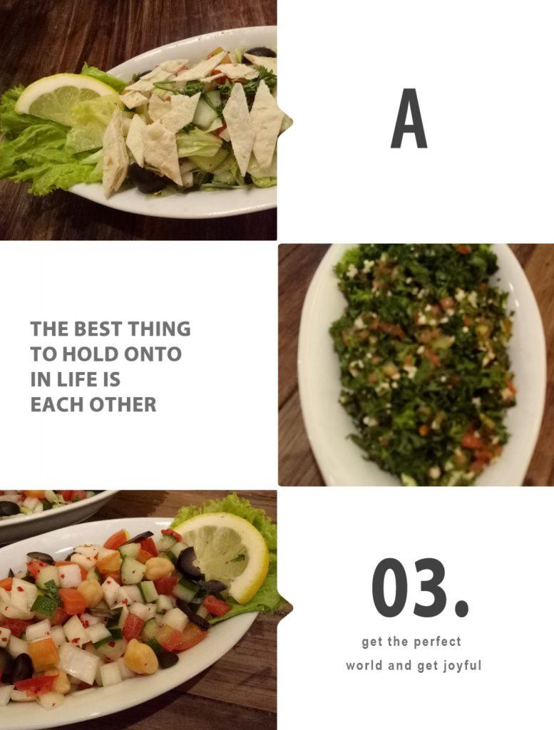 Berbagai Salad : Fattuce, Tabuleh, dan Arabic Salad