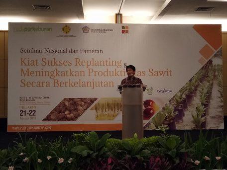 Direktur Jenderal Perkebunan Kementerian Pertanian RI, Bambang Wahyu Dwiantoro Memberikan Sambutan Sekaligus Membuka Acara Workshop Nasional