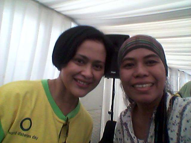 Selfie dengan Campaign Ambassador Indonesia Lawan Diabetes
