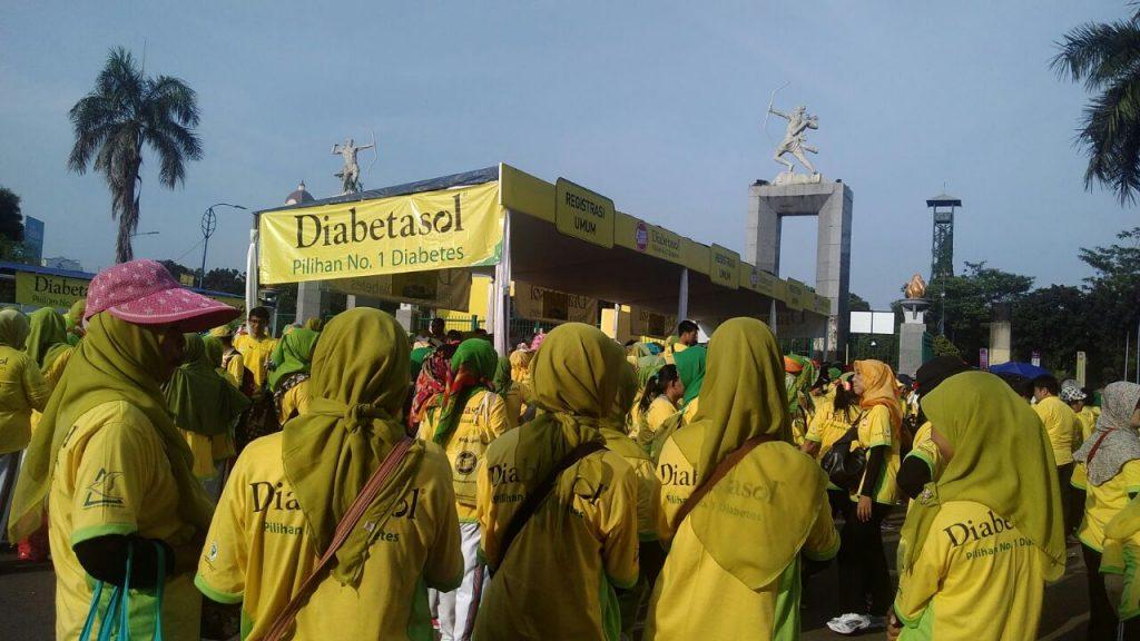Masyarakat Menghadiri Acara kampanye Indonesia Lawan Diabetes di Senayan