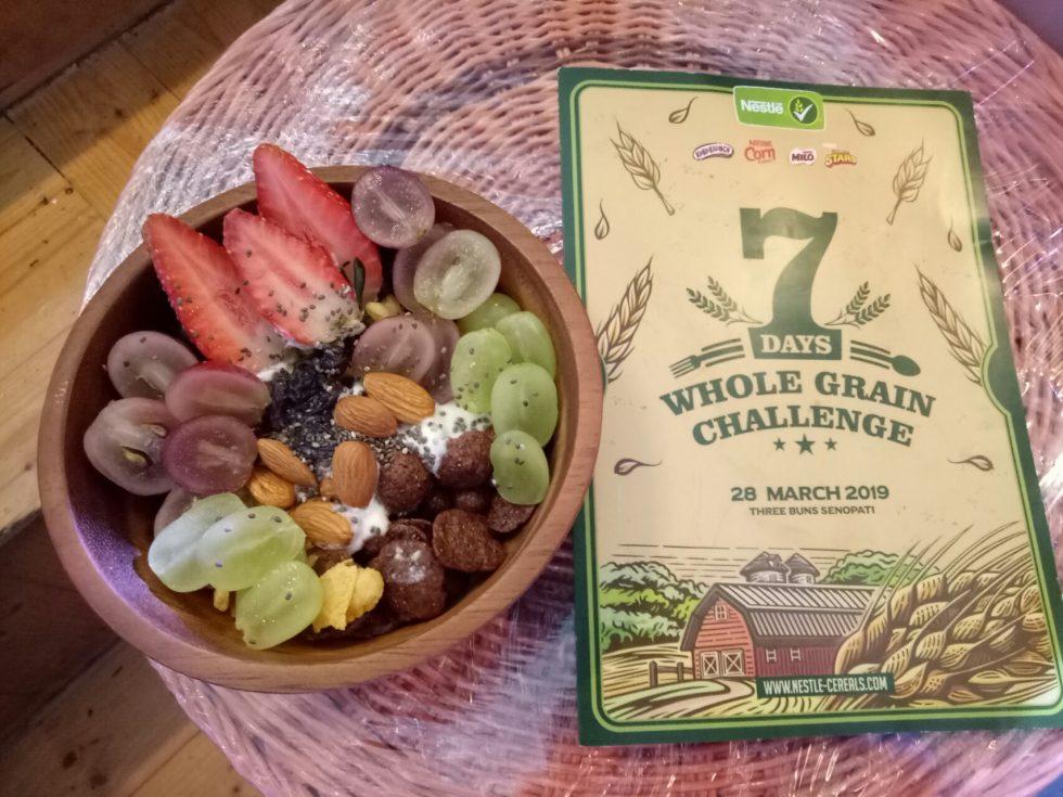 Menu Sarapan Kreasi Saya Saat Ikuti Challenge di Lokasi Acara Nestle Breakfast Cereal